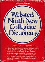 Webster's Ninth New Collegiate Dictionary, cover